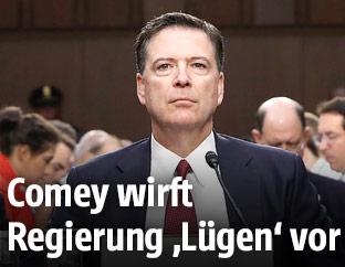 Ehemaliger FBI-Direktor James Comey während einer Anhörung