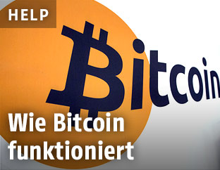 Bitcoin Schriftzug