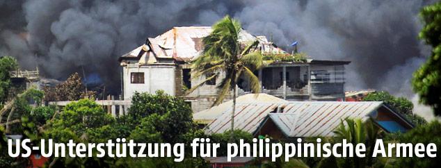 Schlachtfeld in Marawi
