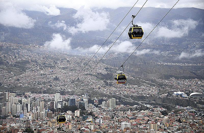 Seilbahn in La Paz