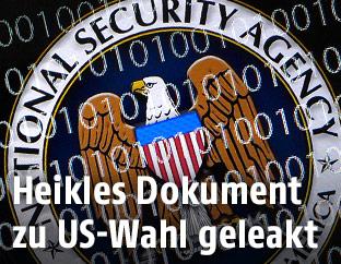 NSA-Logo auf Bildschirm