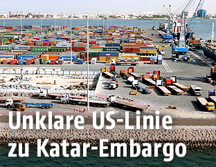Containerhafen in Doha
