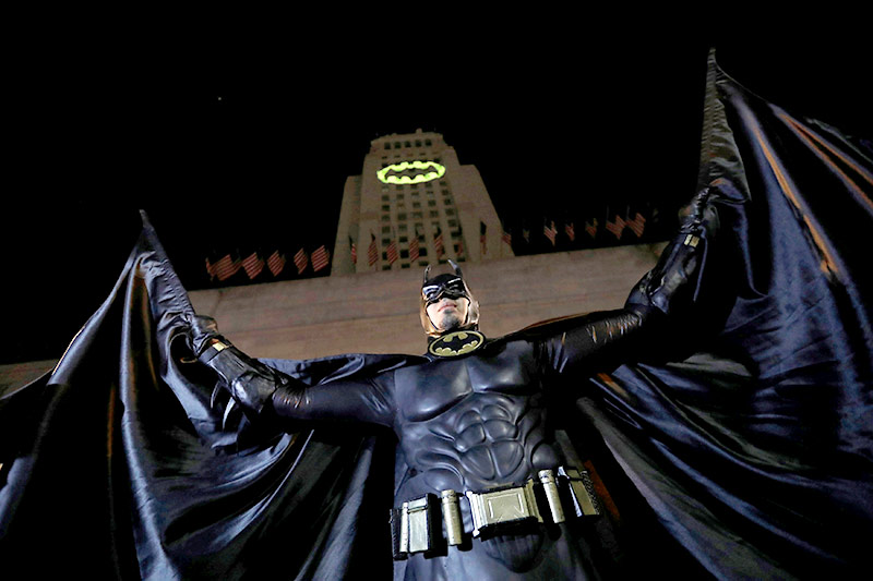 Fans beim Batman-Tribute in Los Angeles