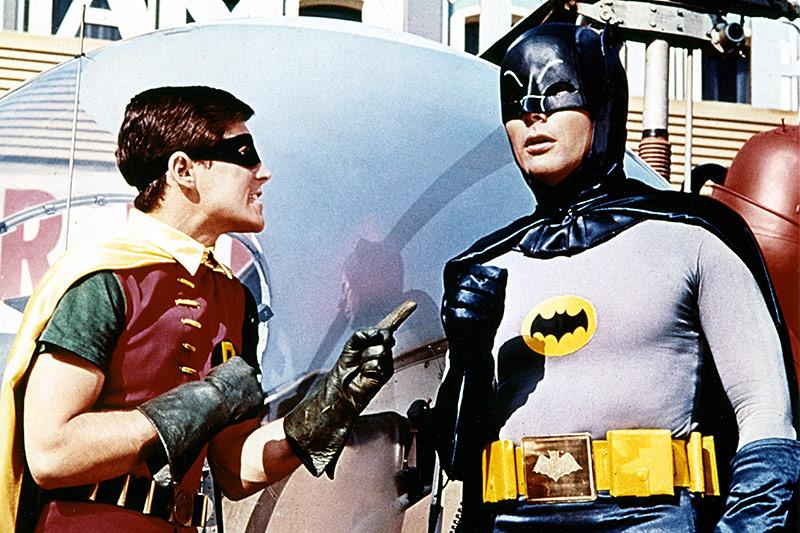 Burt Ward und Adam West, 1966