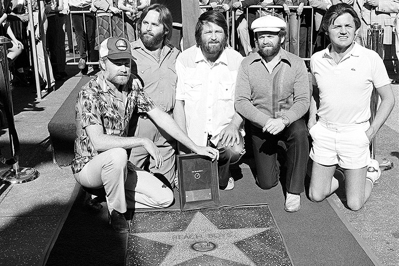 Beach Boys mit ihrem Stern am Walk of Fame