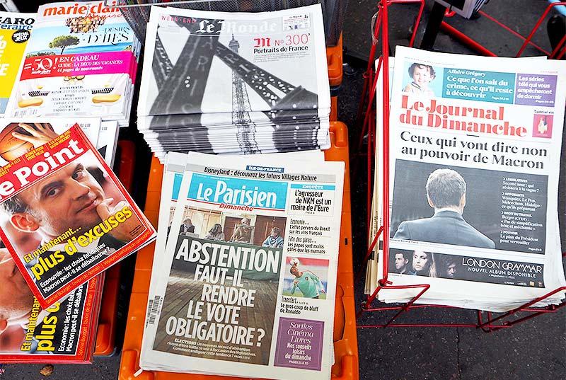 Französische Tageszeitungen