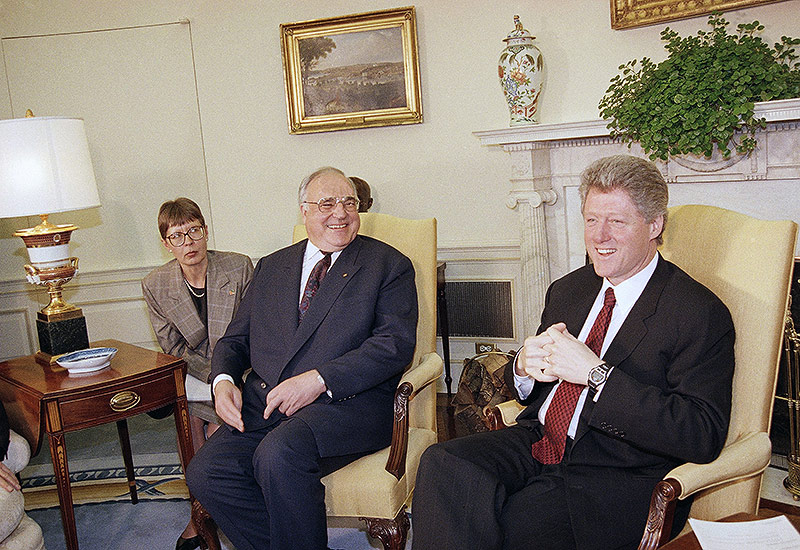 Helmut Kohl und Bill Clinton