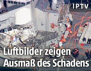 """Beschädigtes US-Militärschiff USS """"Fitzgerald"""""""