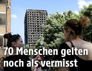 Ausgebranntes Hochhaus in London