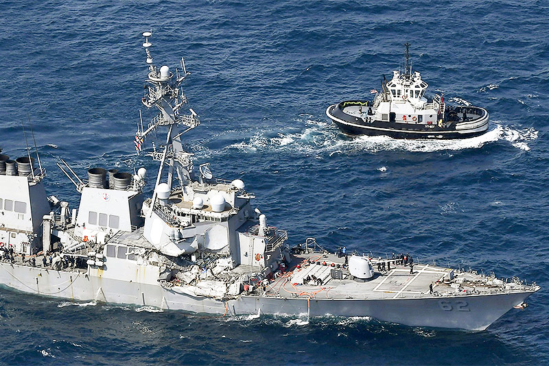 Beschädigte USS Fitzgerald