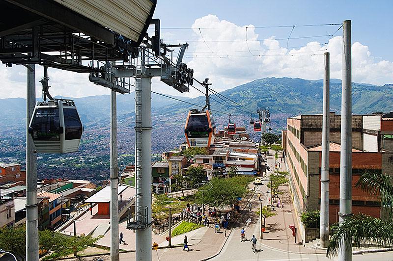 Seilbahn in Medellin