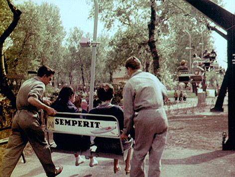 Sessellift im Wiener Donaupark im Jahr 1964