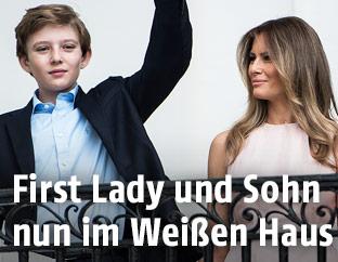Barron und Melania Trump