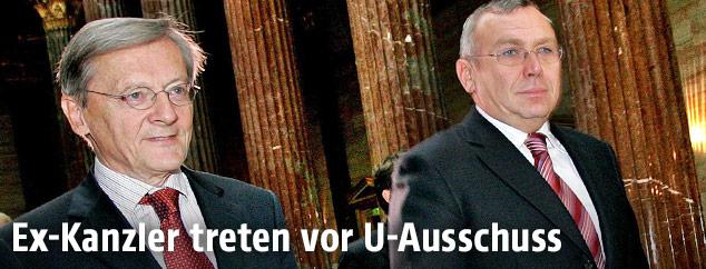 Ex-Kanzler Alfred Gusenbauer und Wolfgang Schüssel