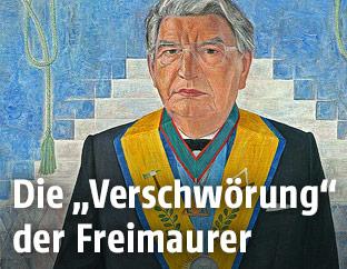 Alexander Giese als Großmeister, Reproduktion eines Gemäldes von Herbert Stepan, 1988