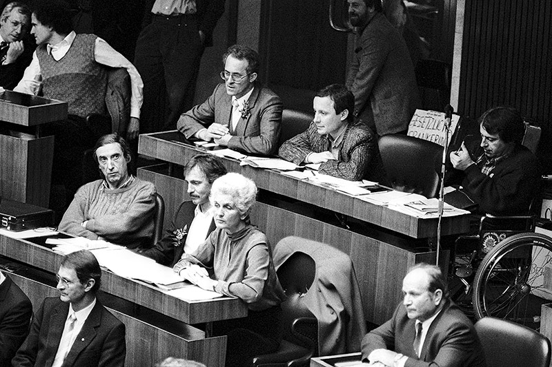 Sitzung des Nationalrates nach den Wahlen 1986