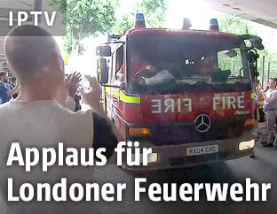 Applaus für Londoner Feuerwehr