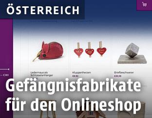 Online-Shop mit Handwerksprodukten von Häftlingen