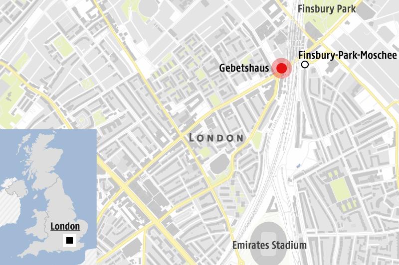 Karte zeigt Anschlagsort in London