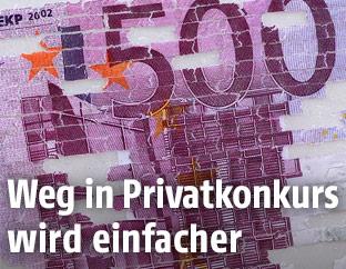 Zerstörter 500-Euro-Schein