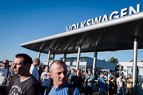 Streik bei VW in Bratislava