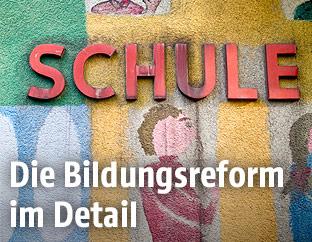 """Schriftzug """"Schule"""""""