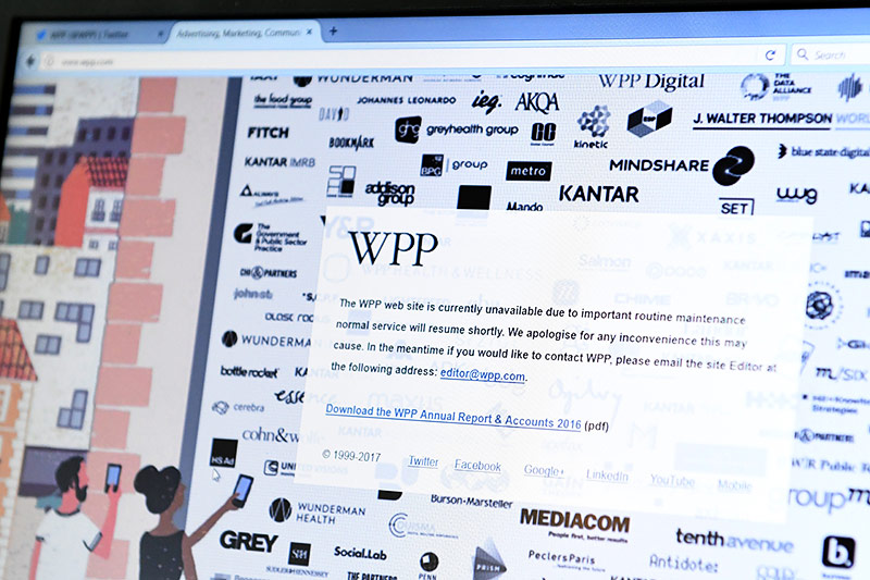 Webseite von WPP im Wartungszustand