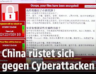 Bildschirm mit der Botschaft des Virus WannaCry