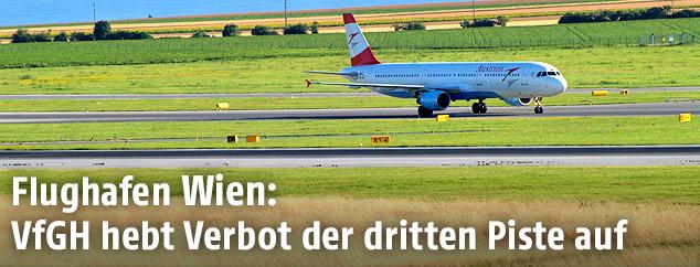 Piste auf dem Flughafen Wien
