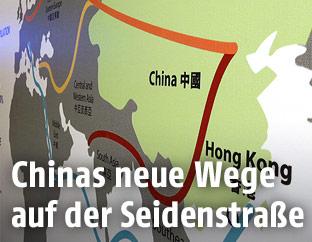 Eine Illustration zur chinesischen Seidenstraße
