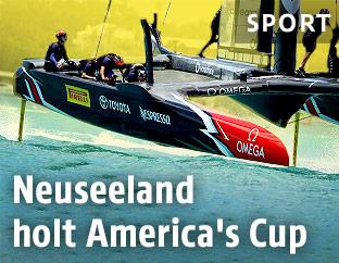 Team Neuseeland beim America's Cup