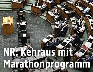 Abgeordnete im Plenarsaal des Parlements