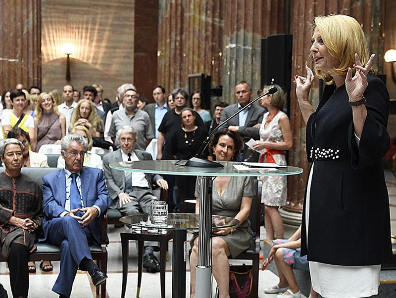Nationalratspräsidentin Doris Bures während der Abschiedsfeier vom Hohen Haus
