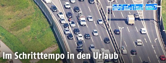 Luftaufnahme einer Autobahn