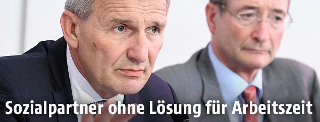 ÖGB-Präsident Erich Foglar und Wirtschaftskammer-Chef Christoph Leitl