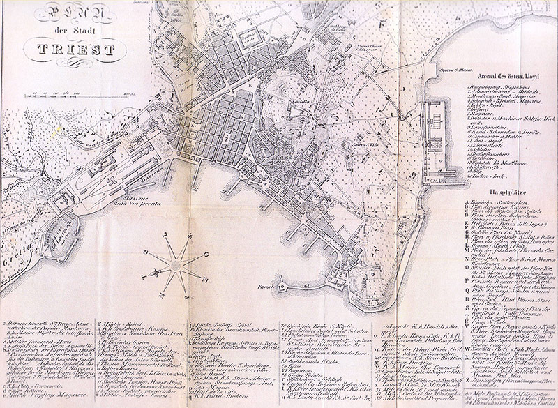 Historische Karte von Triest