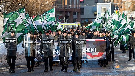 Schwedische Neonazi-Gruppe Nordic Resistance Movement (NRM)