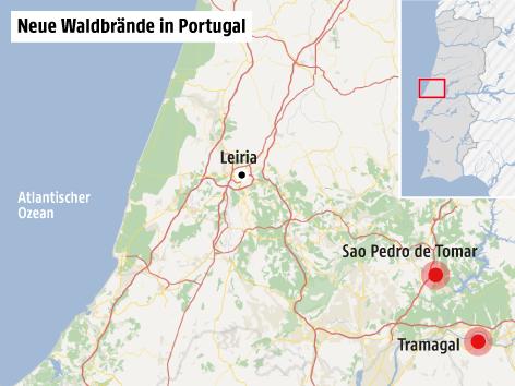 Waldbrände Portugal Karte.Verletzte Bei Neuen Waldbränden In Portugal News Orf At