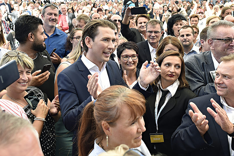 Sebastian Kurz beim ÖVP-Parteitag