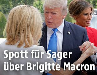 Donald Trump und Brigitte Macron