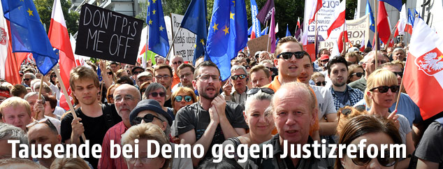 Demonstration in Warschau