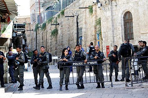 Israelische Sicherheitskräfte in Jersualem