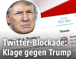 Screenshot von Donald Trumps Twitter-Seite