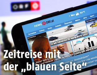 ORF.at auf Smartphone-Bildschirm