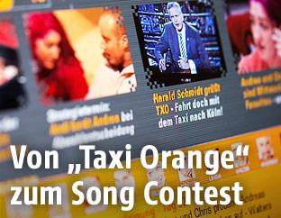 Screenshot zeigt Taxi-Orange-Website
