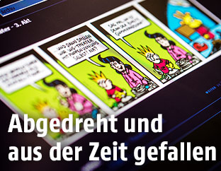 Screenshot zeigt ORF.at-Comic
