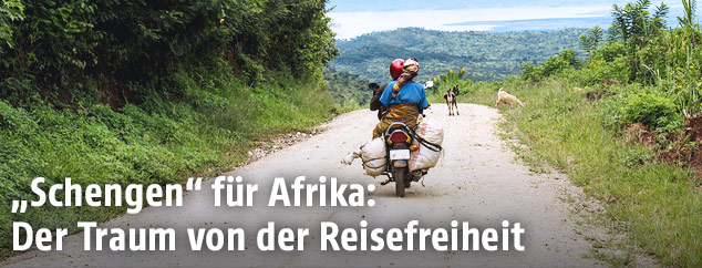 Taxi-Motorrad in Afrika