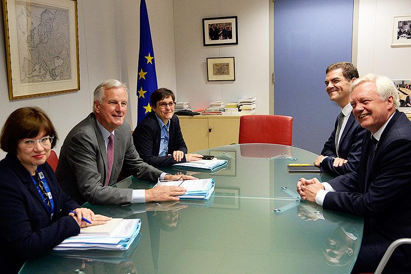 Michel Barnier und David Davis