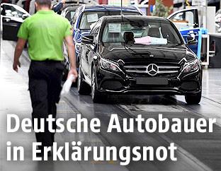 Auto in einem Mercedes-Benz-Werk