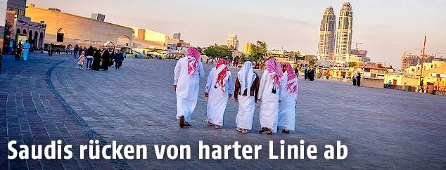 Menschen in Doha, Katar